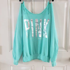 PINK VICTORIA SECRET Pullover Teal Green Sweater